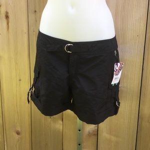 Powder room black cargo board shorts size 5